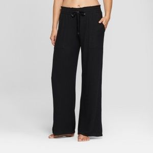 NWT Women's Black Cozy Wide Leg Pajama Pants